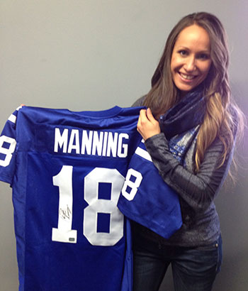 Manning Autographed Jersey